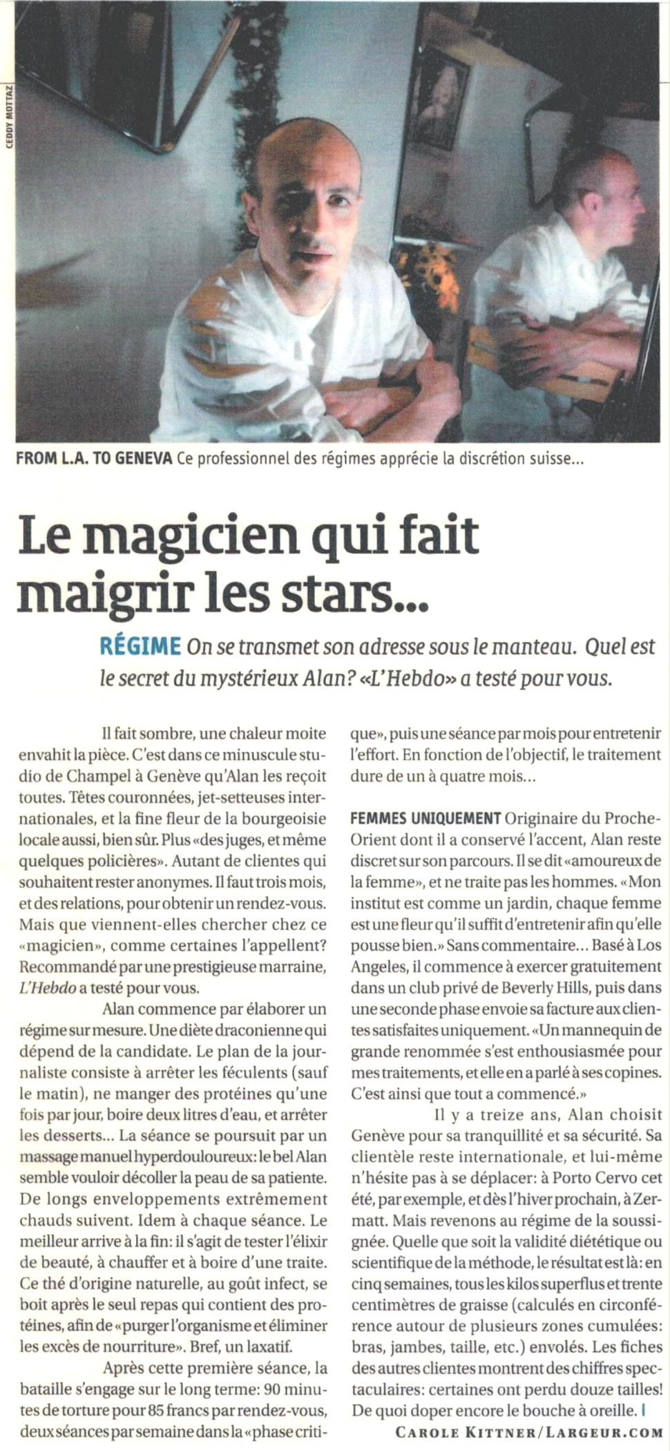 Le magicien qui fait maigrir les stars